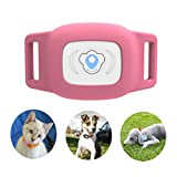 BARTUN GPS Pet Tracker, Cat Dog Tracking Device with Unlimited Range (Pink)