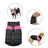 Didog Cold Weather Dog Warm Vest Jacket Coat,Pet Winter Clothes for Small Medium Large Dogs,8, Pink,S Size
