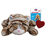 SmartPetLove - Snuggle Kitty - Behavioral Aid Toy for Pets - Tan Tiger