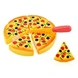 Fdrone Childrens Kids Pizza Slices Toppings Pretend Dinner Kitchen Play Food Toy Birthday Holiday Gift