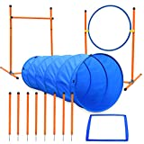 XiaZ Dog Agility Course Equipments, Obstacle Agility Training Starter Kit for Doggie, Pet Outdoor Games - Dog Tunnels, 8 Piece Weave...