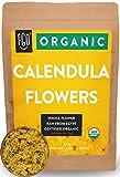 Organic Calendula Flowers | Whole | 4oz Resealable Kraft Bag | 100% Raw From Egypt | by Feel Good Organics