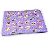 Younter Mossnike Ponies X Sweets Updated Medium Washable Dog Training Mat, Waterproof and Leakproof, Absorbent Dog Mat.31 x21