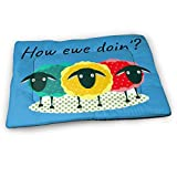 Younter Mossnike Funny Punny How Ewe Doin' Medium Washable Dog Training Mat, Waterproof and Leakproof, Absorbent Dog Mat.31 x21
