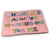 Younter Mossnike Things are Always Working Out for Me Medium Washable Dog Training Mat, Waterproof and Leakproof, Absorbent Dog Mat.31...