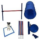 Reggie's Dog Agility Equipment Set Featuring Jump Bar, Weave Poles, Agility Tunnel, Rest Area, and Agility Training ebook (One Jump)