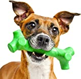 Pet Qwerks BarkBone Mint Flavor Dental Breath Stick Dog Chew Toy - Durable Dog Bones for Aggressive Chewers, Tough Power Chew Toys |...