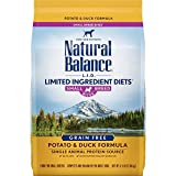 Natural Balance L.I.D. Limited Ingredient Diets Small Breed Bites Dry Dog Food, Potato & Duck Formula, 4.5 Pounds
