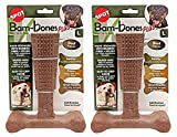 Ethical Pet 2 Pack of Bambones Plus Dog Chew Toys, Large 7 Inch, Beef Flavor
