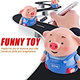 Fdrone Follow Any Drawn Line Magic Pen Inductive Cute Pig Model Children Toy Birthday Holiday Gift