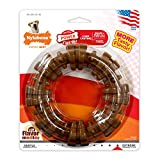 Nylabone Dura Chew Power Chew Textured Ring, Large Durable Dog Chew Toy, Great for Aggressive Chewers