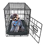 OCEST 20' Pet Kennel Cat Rabbit Folding Steel Crate Animal Playpen Wire Metal Cage Black