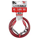 BV Pet Tie Out Cable for Dogs Up to 90/125 Pounds, 25/30 Feet (Red/ 125lbs/ 30ft)