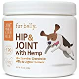Glucosamine for Dogs Hip and Joint Supplement - Glucosamine Chondroitin for Dogs with MSM, Organic Hemp, Turmeric & Omega 3, - Dog...