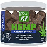 Only Natural Pet Calming Hemp Soft Chews - Stress & Anxiety Calming Treat for Dogs and Cats, L-Theanine, Chamomile & Lemon Balm - 60...