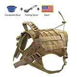 EJG Tactical Dog Harness Vest, with Molle System & Velcro Area, No Pulling Design, Comfy Mesh Padding, for Service Dogs, Military...