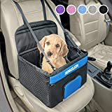 Henkelion Pet Dog Booster Seat, Deluxe Pet Booster Car Seat for Small Dogs Medium Dogs, Reinforce Metal Frame Construction, Portable...
