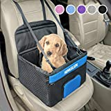 Henkelion Pet Booster Seat,Deluxe Pet Dog Booster Car Seat for Small Dogs/Medium Dogs, Reinforce Metal Frame Construction   Portable...