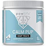 pawlife Calming Treats for Dogs Plus Glucosamine - Hemp Oil Infused Soft Chews for Dog Anxiety Support- 120 Dog Calming Treats (Duck)