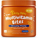 Zesty Paws Multivitamin Treats for Dogs - Glucosamine Chondroitin for Joint Support + Digestive Enzymes & Probiotics - Grain Free Dog...