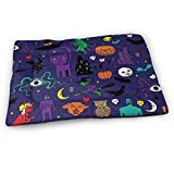 Rikana Retro Halloween Pattern Medium Washable Dog Training Mat, Waterproof and Leakproof, Absorbent Dog Mat.23 x15.5