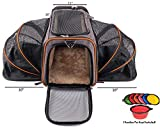 Petpeppy.com The Original Airline Approved Expandable Pet Carrier by Pet Peppy- Two Side Expansion, Designed for Cats, Dogs,...