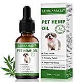 LDREAMAM Hemp Oil for Dogs Cats, Pets Hemp Oil for Pain Relief,Separation Anxiety Relief, Hips Pain, Pet Recovery, Sleep and Treats...