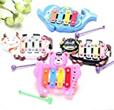 Fdrone Kids Baby Musical Educational Animal Developmental Music Bell Toy 4 Tone Birthday Holiday Gift