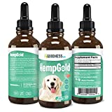 Fur Goodness Sake Hemp Oil for Dogs and Cats - Pet Hemp Oil with Omega 3 for Dog Anxiety Relief, Cat Calming and Pain Relief - HempGold...