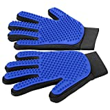 [Upgrade Version] Pet Grooming Glove - Gentle Deshedding Brush Glove - Efficient Pet Hair Remover Mitt - Enhanced Five Finger Design -...