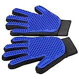[Upgrade Version] Pet Grooming Glove - Gentle Deshedding Brush Glove - Efficient Pet Hair Remover Mitt - Enhanced Five Finger Design -...