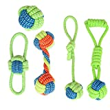 BIMOUR Dog Rope Toy Puppy Chew Tug of War Dog Toys Playtime and Teeth Cleaning Toys for Small Dogs Safe Pet Supplies for Small Puppies...