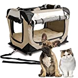 PetLuv 'Pull-Along Rolling Cat & Dog Carrier & Travel Crate on Wheels - Matching Comfy Plush Nap Pillow, Reduces Anxiety