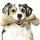 Pet Qwerks Real Bacon Infused Dinosaur BarkBone - Durable Dog Toy for Aggressive Chewers, Tough Indestructible Power Chewer Bones |...