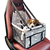 Pet Dog Car Booster Seat Carrier,Portable Foldable Carrier with Seat Belt for Dog Cat up to 25lbs