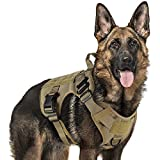 rabbitgoo Tactical Dog Harness Vest Large with Handle, Military Dog Harness Working Dog Vest with MOLLE & Loop Panels, No-Pull...
