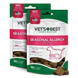 Vet's Best Seasonal Allergy Soft Chew Dog Supplements | Soothes Dogs Skin Irritation Due to Seasonal Allergies | Maintain Histamine...