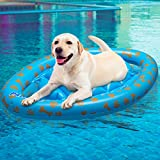 PAWCHIE Dog Pool Float Inflatable Raft for Pets, Swimming Pool Ride-ons for Summer Outdoor Water Games