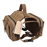 OneTigris Dog Pack Hound Travel Camping Hiking Backpack Saddle Bag Rucksack for Medium & Large Dog with 16'-26' Neck Girth and 30'-42'...