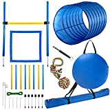 CHEERING PET Dog Agility Equipment, 28 Piece Dog Obstacle Course for Training and Interactive Play Includes Dog Agility Tunnel,...