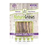 Nature Gnaws Jumbo Bully Sticks 5-6' (12 Count) - 100% Natural Long Lasting Chews for Large Dogs