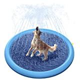 Peteast Splash Sprinkler Pad for Dogs Kids, Dog Bath Pool Thickened Durable Bathing Tub Pet Summer Outdoor Water Toys, XL