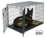 XL Dog Crate | MidWest Life Stages Double Door Folding Metal Dog Crate | Divider Panel, Floor Protecting Feet, Leak-Proof Dog Tray |...