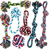 AMZpets Dog Toy Set for Large Dogs and Aggressive Chewers - 7 Nearly Indestructible Cotton Chewing Ropes. Tough Durable Heavy Duty...