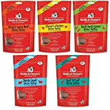Stella & Chewy's Freeze Dried Dog Food for Adult Dogs, 5.5 oz Variety Pack 1 of each Flavor (Beef, Chicken, Duck, Surf N' Turf, Lamb...