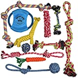 Pacific Pups Products supporting pacificpuprescue.com Dog Rope Toys for Aggressive Chewers - Set of 11 Nearly Indestructible Dog Toys -...
