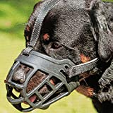 Dog Muzzle,Soft Basket Silicone Muzzles for Dog, Best to Prevent Biting, Chewing and Barking, Allows Drinking and Panting, Used with...